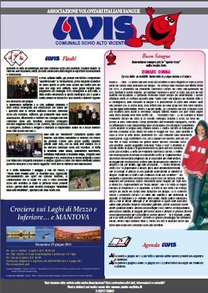 Mensile Schio: pagina dedicata all'Avis Comunale di Schio Alto Vicentino