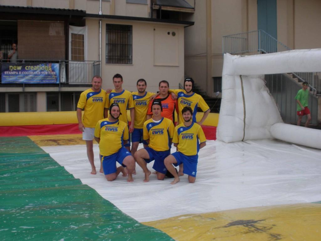 Sagra di Torrebelvicino (VI): Torneo di calcetto saponato con la squadra AVIS SCHIO ALTO VICENTINO