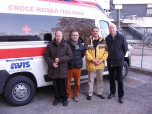 ambulanza avis schio alto vicentino: gobetti, fasolato, carraro, magrin nella foto