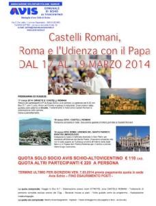 castelli romani e udienza papa avis
